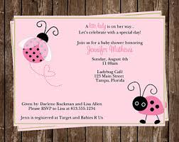 Baby Shower Invitation Templates  CanvaFree Printable Ladybug Baby Shower Invitations