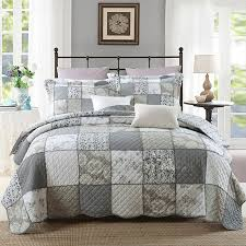 CHAUSUB Korea Patchwork Quilt Set 3PC Washed Cotton Quilts Bed ... & CHAUSUB Korea Patchwork Quilt Set 3PC Washed Cotton Quilts Bed Sheet Quilted  Bedspread Floral Bed Cover Pillowcase coverlet KING-in Quilts from Home ... Adamdwight.com