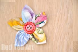 How To Make A Paper Ribbon Flower Easy Fabric Flowers Red Ted Arts Blog
