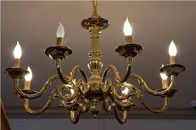 back to improving room ambience with an antique brass chandelier
