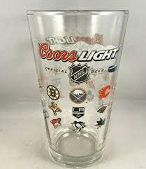 Coors Light Glass Nhl Hockey Teams Logo Coors Light Beer Pint Glass Ebay