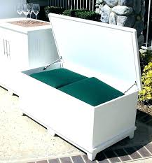 Deck Storage Box White Gallon Extra Large Wooden Outdoor Wicker