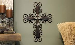 wooden cross decor reclaimed wood orthodox wall large distressed yard decoration