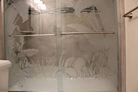 frosted shower doors. Frosted Shower Doors And Illuminated Etched Glass E