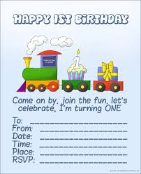 the first birthday train with a cupcake and a present printable