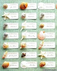Place Card Holder Template Seating Cards For Wedding Seashell Chart Arrangement Ideas
