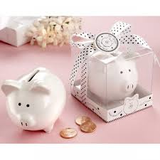 baby shower favors ceramic mini piggy bank in gift box