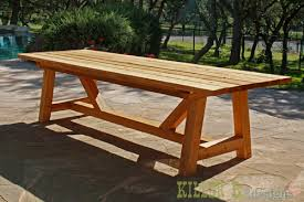 diy outdoor table. 10 Foot Long Provence Table With 4x4\u0027s Diy Outdoor