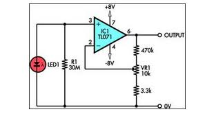 using led as a light sensor eeweb community led as a light sensor circuit diagram