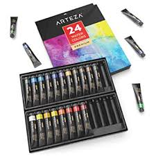 ARTEZA <b>Watercolour</b> Premium Artist <b>Paints</b> Set - <b>24 Colours</b> (<b>24</b> x ...