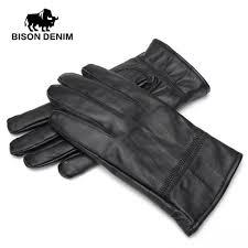 2019 bison denim men winter warm gloves outdoors sheepskin genuine leather warm black leather gloves for men s003 from huazu 47 67 dhgate com