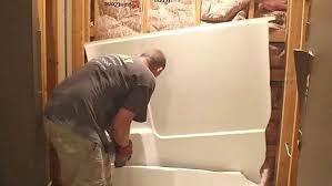 removing old bathtub removing tub surround removing bathtub single handle faucet