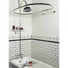 sheffield deck mount hotel style shower conversion kit clawfoot tub shower kits shower