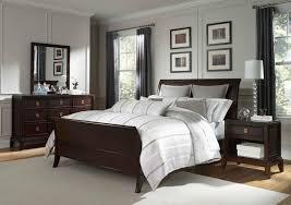 Elegant Bedroom Decorating Ideas Dark Wood Sleigh Bed Bedroom ...