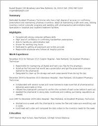 Resume Templates: Inpatient Pharmacy Technician
