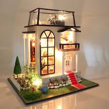 making dolls house furniture. aliexpresscom buy doll house villa model include furniture diy miniature 3d puzzle wooden dollhouse creative birthday gifts toys dolls for houses from making f