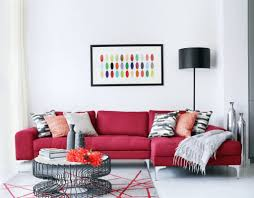 Living Room With Red Sofa Decorating Ideas With A Red Sofa Wearefound Home Design