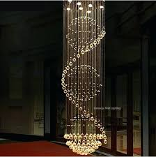 6 8 luxury led crystal ceiling lights long stairway dome hotel foyer living room hanging light