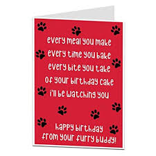 Amazoncom Funny Birthday Card From The Dog For The Owner Lover