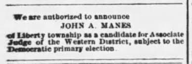 John Aaron Manes? - Newspapers.com