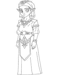 Coloriage Zelda Imprimer