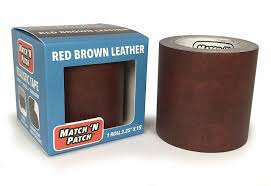 fit to viewer prev next match n patch realistic red brown leather repair tape