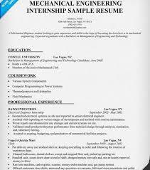 Gallery Of Mechanical Engineering Intern Resume
