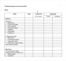 Training Checklist Templates Magdalene Project Org