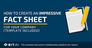 How to Create a <b>Fact Sheet</b> (<b>Fact Sheet</b> Template Included)