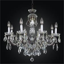 iron and crystal chandelier 8 light chandelier old world iron 543ad8lcb 3c