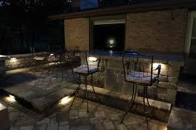 image of kitchen outdoor low voltage lighting