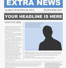 Newspaper Article Template Free Free Newspaper Template Free Newspaper Template Pack For Word