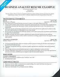 resume ba business analyst resume example resume basics