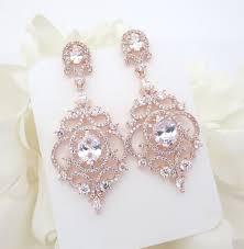 rose gold chandelier earrings best 25 gold chandelier earrings ideas on wedding