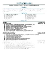 Template Auto Mechanic Resume Templates Examples Diesel Template