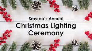 Smyrna Christmas Lights Tree Lighting Ceremony Parks Events Calendar Smyrna Tn