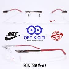 jual frame kacamata pria nike rimless