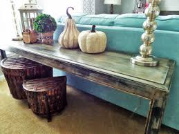 Diy Rustic Sofa Table My Loft Tour Be My Guest With Denise