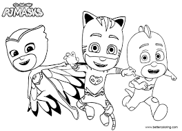 Catboy From Pj Masks Coloring Pages Free Printable Coloring Pages