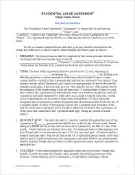 Standard Rental Agreement Template Free Lease Agreement Template For Word