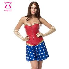 Wonder Woman Costume Pattern Mesmerizing Burlesque Gold PVC And Red Leather Corset Wonder Woman Costume