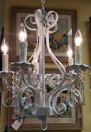 small white chandelier