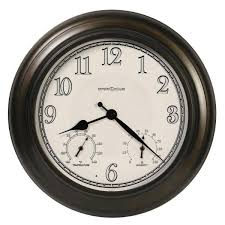 howard miller briar outdoor wall clock