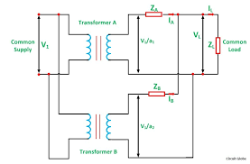 parallel operation of a single phase transformer circuit globe parallel operation of 1 phase transformer figure