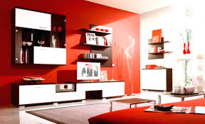Decoration Red White Living Room