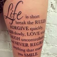 Spruch Tattoo Oberschenkel Tatuajes Tattoo Oberschenkel Tattoo