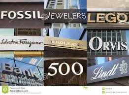 Designer Stores In Manhattan Brands Of Luxury Shops On Fifth Avenue Editorial Stock Image
