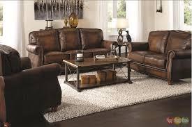 brown sofa sets. Sofa, A Classic Brown Leather Sofa Set Plu Wooden Rectangula Table An Sets