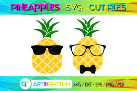 This cute pineapple monogram free svg is getting me in the mood for summer and a beach vacation! Pineapple With Shades Sunglasses Graphic By Artinrhythm Creative Fabrica