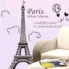 Home Decoration Accessories Wall Art Urparcel Removable Romantic Art Paris Wall Sticker Decal 70
